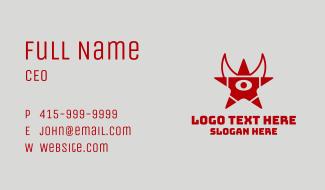 Demon Star Eye  Business Card