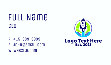 Space Rocket Launch  Business Card