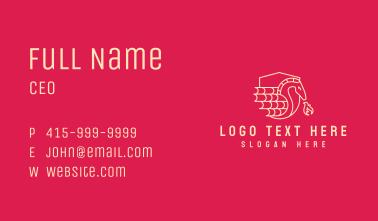 Flaming Dragon Shield  Business Card