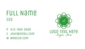 Green Flower Lettermark Business Card