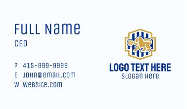 Lion Volleyball Emblem Business Card