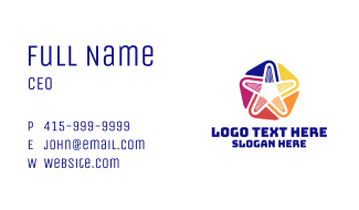Bakery Icing Star Business Card