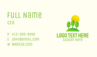 Eco Park Sunset Business Card