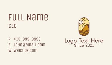 Desert Pyramid Emblem Business Card
