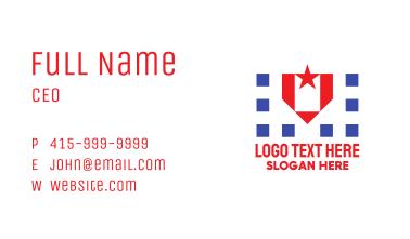 Patrioric Star Badge Business Card