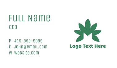 Green Cannabis M Business Card