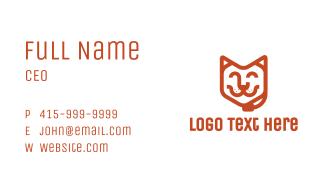 Customer Pet Service Business Card
