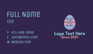 Decorative Easter Egg Business Card