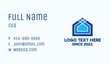 Blue House Lines Business Card