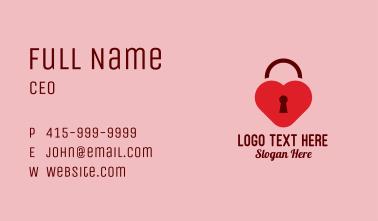 Love Lock Keyhole Business Card