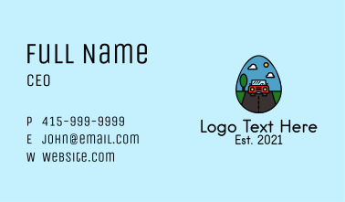 Road Trip Egg Business Card
