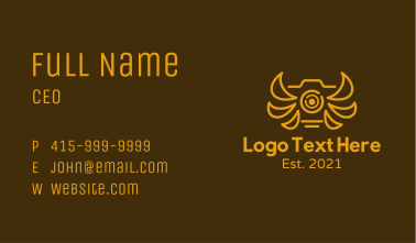 Golden Winged Camera Business Card