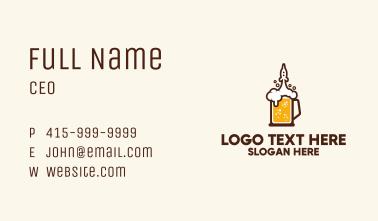 Rocket Beer Mug  Business Card