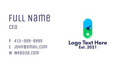 Pharmacy Capsule Clock  Business Card
