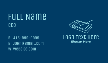Mobile Phone Arrow  Business Card