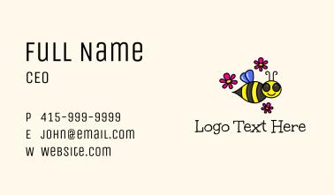 Honeybee Flower  Business Card