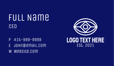 White Diamond Eye  Business Card