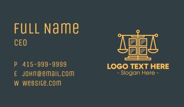 Golden Law Window Business Card