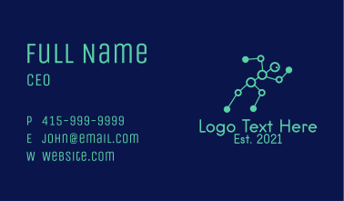 Green Outline Physiotherapy  Business Card
