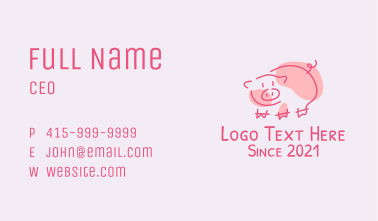 Pig Farm Mascot Business Card