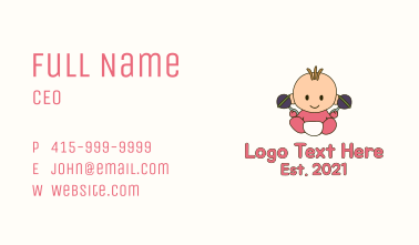 Baby Rattle Baby Business Card