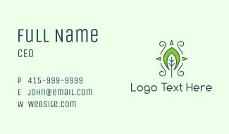 Eco Organic Tribal Leaf Business Card