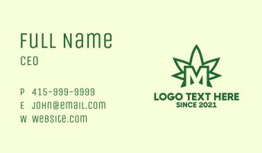 Marijuana Letter M Business Card