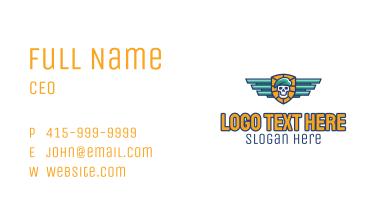 Skull Beret Automotive Business Card
