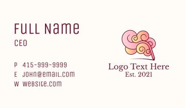Creative Brain Pencil Business Card