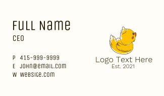 Fluffy Baby Duck Business Card