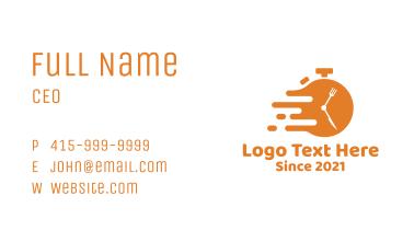 Orange Fast Food Diner Business Card