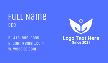 Anchor Wings Shipping Business Card