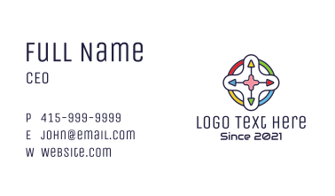 Multicolor Game Controller Business Card