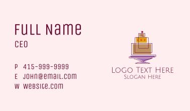 Geometric Cake Bakery  Business Card