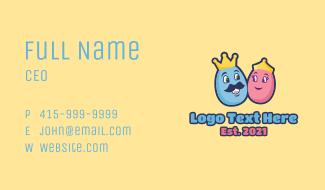 King Queen Egg  Business Card