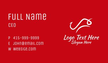 Minimalist Bull Business Card