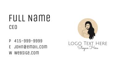 Black Hair Woman Business Card
