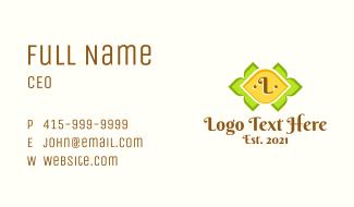 Lemon Fruit Letter  Business Card