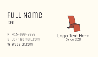 Accent Chair Design  Business Card