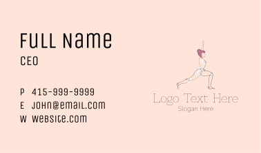 Stretching Yoga Instructor  Business Card