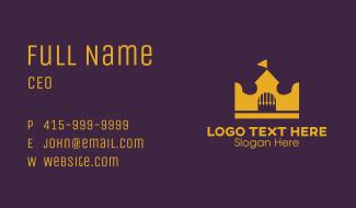 Royal Golden Castle Crown Business Card