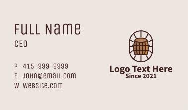 Wooden Wine Barrel  Business Card