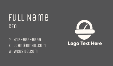 White Pin Scale Business Card