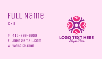 Decorative Cosmetic Rose Business Card