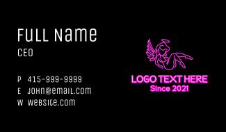 Neon Strip Club  Business Card