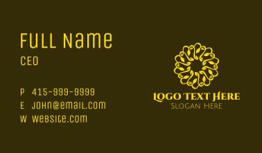 Golden Yellow Mandala Business Card