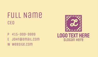 Purple Lattice Lettermark Business Card