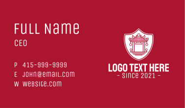Asian Temple Shield Business Card