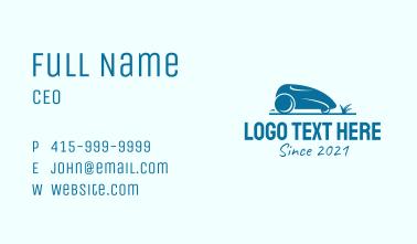 Blue Lawn Mower  Business Card