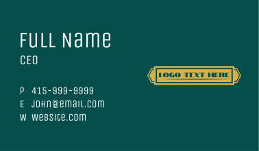 Classic Gold Wordmark  Business Card